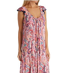 Ellen Tracy Spring Paisley Sleeveless Midi Gown with Soft Bra 8318606