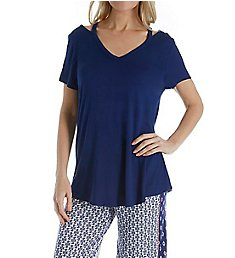 Ellen Tracy Blue Geo PJ Set 8318608
