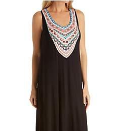 Ellen Tracy Spring Geo Sleeveless Midi Gown with Shelf Bra 8418602