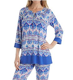 Ellen Tracy Paisley Tunic PJ Set 8518637