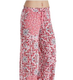 Ellen Tracy Flower Medallion Palazzo Pant 8618561