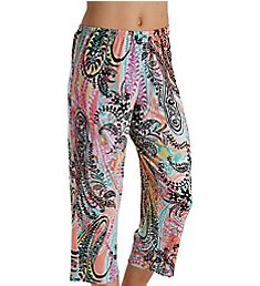 Ellen Tracy Spring Geo Paisley Cropped Pant 8618601