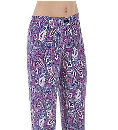 Ellen Tracy Purple Paisley Long Pant 8618671