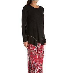 Ellen Tracy Cranberry Damask Palazzo Pant and Top Set 8621465