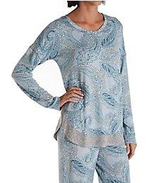 Ellen Tracy Sweater Knit PJ Set with Matching Headband 8622971
