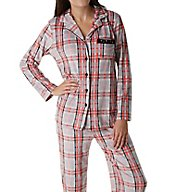 Ellen Tracy Essential Velour Long Sleeve Pajama Set 8718558