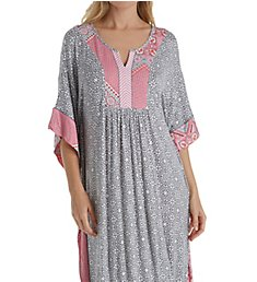 Ellen Tracy Flower Medallion Long Caftan 8718561