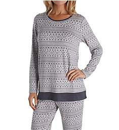 Ellen Tracy Cozy Sweater Knit PJ Set with Matching Socks 8721322