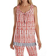 Ellen Tracy Hot in Havana Sleeveless PJ Set 8818526