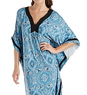 Ellen Tracy Falling for Blue Caftan 8818534