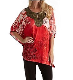 Ellen Tracy Medallion Caftan PJ Set 8918556