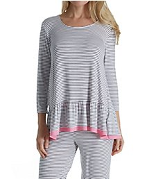 Ellen Tracy Heartfelt 3/4 Sleeve Pajama Set 8918561
