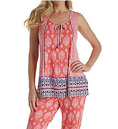 Ellen Tracy Medallion Geo Sleeveless PJ Set 8918607