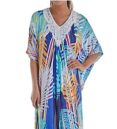 Ellen Tracy Palm Beach Ikat Long Caftan 8918637