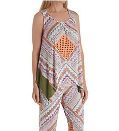 Ellen Tracy Geo Patchwork Tank PJ Set 8918639