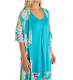Ellen Tracy Two Piece Robe and Gown Resort Set 8922915