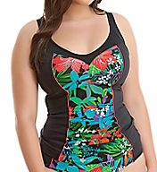 Elomi Cubana Gathered Wire Free Tankini Swim Top ES7091