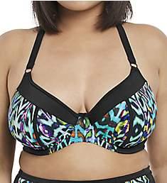 Elomi Tribal Instinct Underwire Plunge Bikini Swim Top ES7112