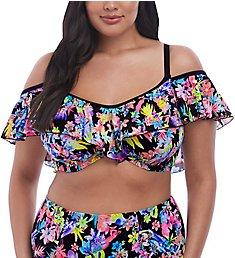 Elomi Electroflower Underwire Bardot Bikini Swim Top ES7173