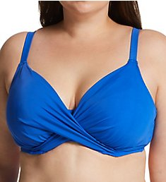 Elomi Magnetic Underwire Wrap Plunge Bikini Swim Top ES7193
