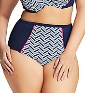 Elomi Chevron High Rise Brief Swim Bottom ES7453