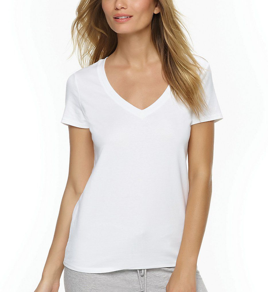 Felina Short Sleeve V-Neck Tee 2354B