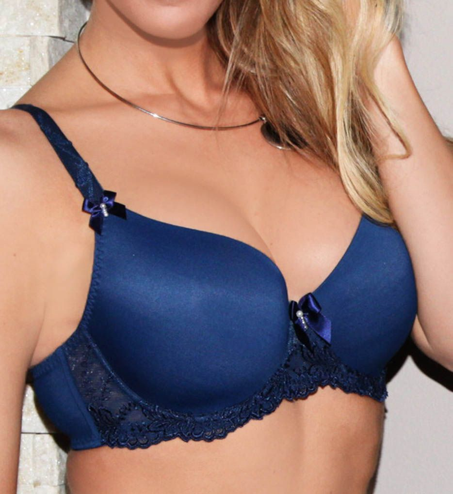 Fit Fully Yours Elizabeth Smooth Cup Lace Trim Underwire Bra B1032