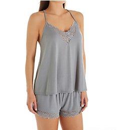 Flora Nikrooz Floretta II Knit Camisole PJ Set with Lace Q81070