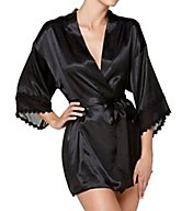 Flora Nikrooz Vivian Charmeuse Wrap with Chiffon Trim T80564