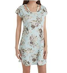 Flora Nikrooz Camille Cold Shoulder Knit Print Sleepshirt T80709