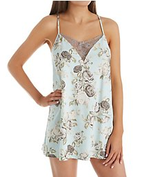 Flora Nikrooz Gigi Knit Print Chemise with Lace T80710