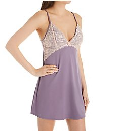 Flora Nikrooz Delia Knit Chemise with Lace T80803
