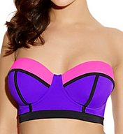 Freya Bondi Underwire Bandeau Longline Bikini Swim Top AS3241