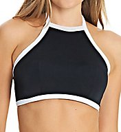 Freya Back To Black High Neck Crop Swim Top AS3701
