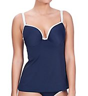 Freya In the Navy Deco Underwire Contour Tankini Top AS3858