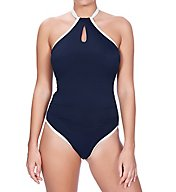 Freya In The Navy Underwire High Neck One Piece Swimsuit AS3860