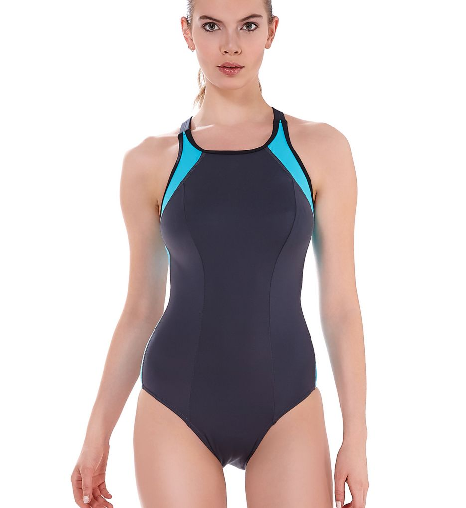Freya Zoom High Neck Soft Cup One-Piece Swimsuit AS3968