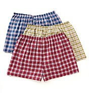 Fruit Of The Loom Big Man Traditional Tartan Woven Boxers - 3 Pack 590X