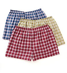 Fruit Of The Loom Extended Size Tartan Woven Boxers - 3 Pack 590X