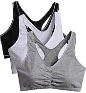 Fruit Of The Loom Total Comfort Racerback Bras - 3 Pack FT170