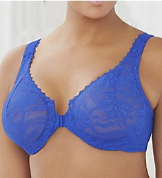 Glamorise Elegance Stretch Lace Front Close Wonderwire Bra 9245