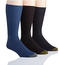 Gold Toe Fluffies 1x1 Rib Crew Socks - 3 Pack 523S
