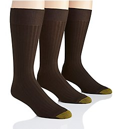 Gold Toe Canterbury Crew Dress Socks - 3 Pack 794S