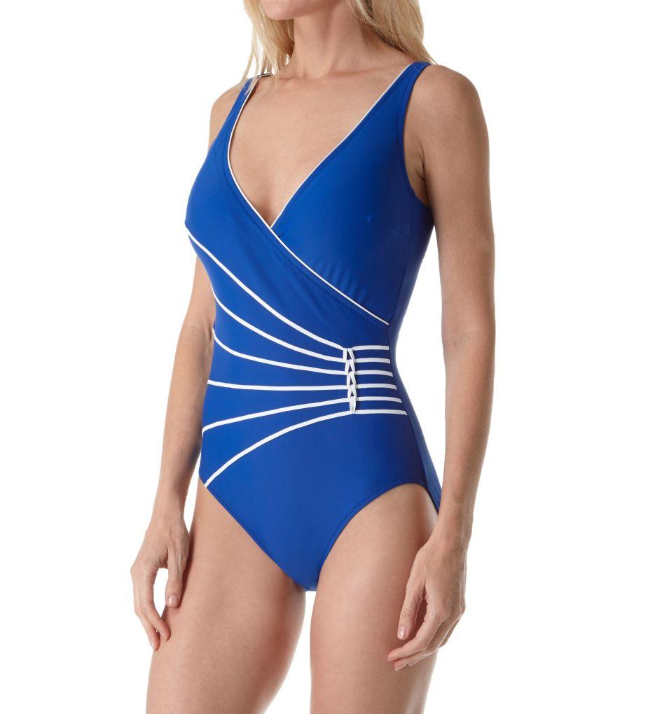Gottex Surplice Tummy Control One Piece Swimsuit 17LL178
