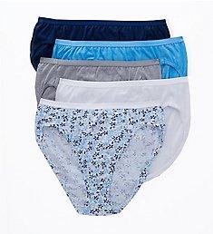 Hanes Ultimate Core Cotton Hi-Cut Panty - 5 Pack 43HUCC