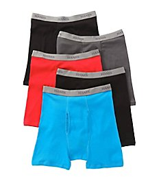 Hanes Premium Cotton Assorted Boxer Briefs - 5 Pack 76925F