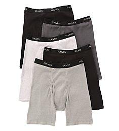 Hanes Premium Cotton Long Leg Boxer Briefs - 5 Pack 76925L