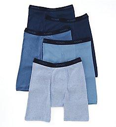 Hanes Premium 100% Cotton Long Leg Boxer Briefs - 5 Pack 769LA5