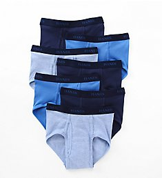 Hanes Premium Cotton Full-Cut Assorted Briefs - 7 Pack 7764L7