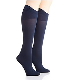 Hanes Curves Opaque ComfortFlex Band Plus Socks - 2 Pair HSP021